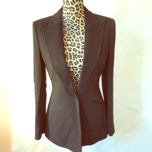 Armani Collezioni Pin Strip wool blend Blazer - 6